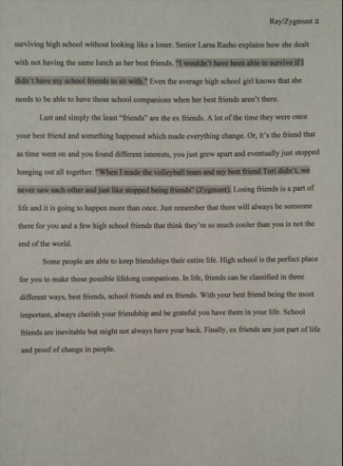 entire essays kayla zygmunt  classification essay in this paper me and my partner devon ray decided to classify the different types of friends specifically directed towards other high